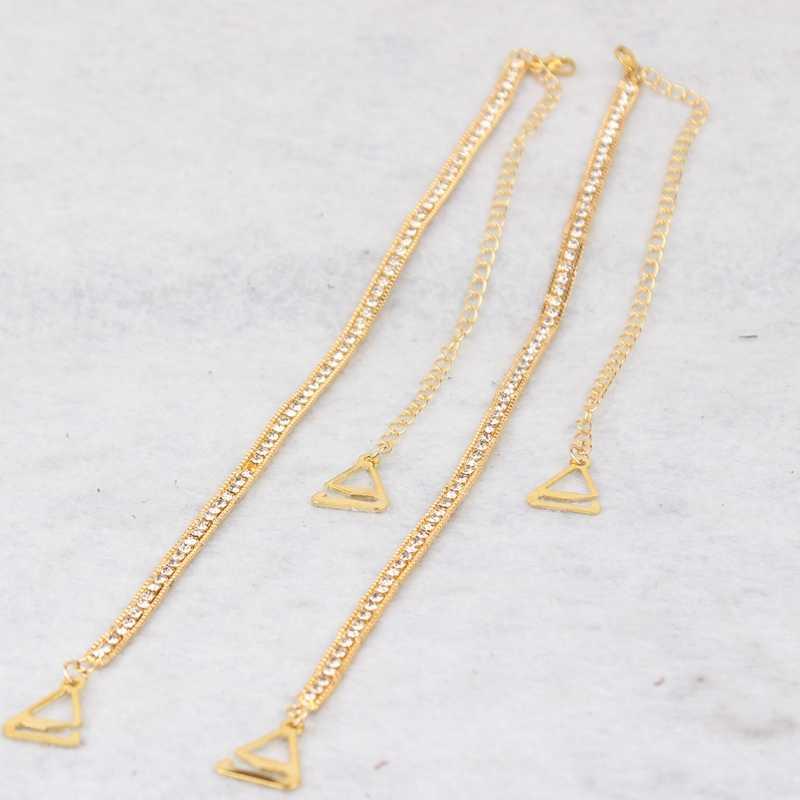 13200252cb2bd ... Новая мода двойной плечо бюстгальтер с плечевыми ремешками цепь горный  хрусталь плечевой ремень нижнее белье Пояс ...