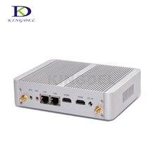 DHL бесплатная доставка безвентиляторный настольный компьютер Intel Celeron N3150 Quad Core/Celeron N3050 Dual Core, Двойной HDMI + LAN Mini PC, Wi-Fi, Win10