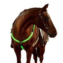 Ajustable LED caballo pecho arnés de cinturón de Nylon noche Visible peto en equipo de equitación de la correa del pecho