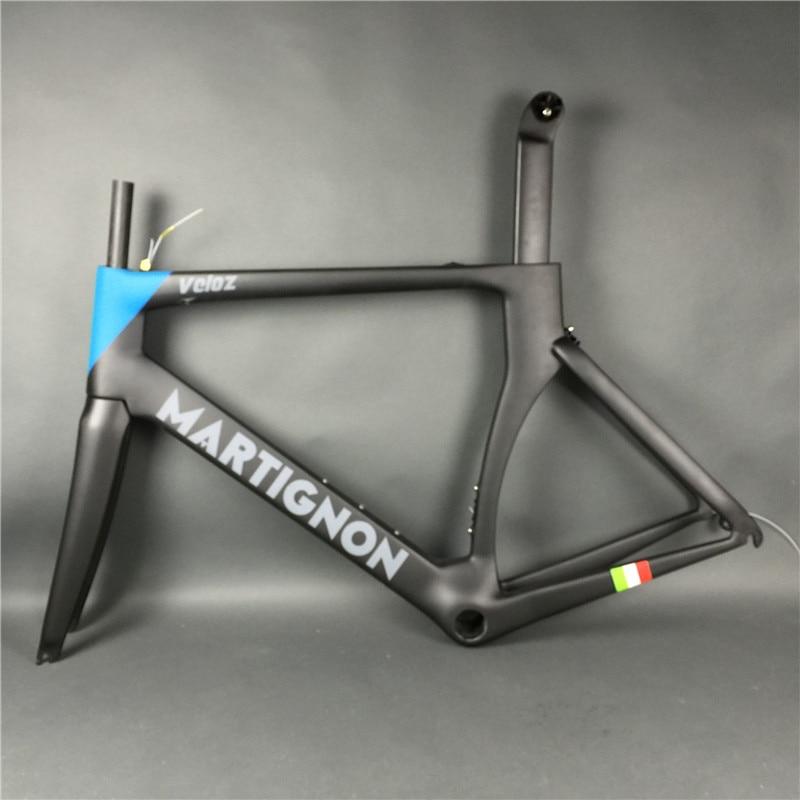 Road Bike Full Carbon Frameset Carbono Fiber Frame Black Blue High Strength Size 48/51/54/56/58cm Glossy/matte UD Surface
