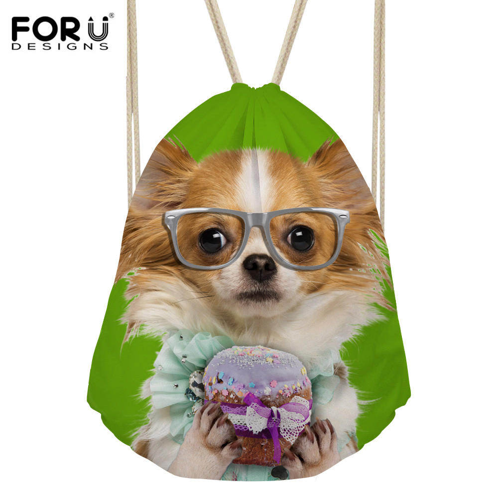 FORUDESIGNS Dogs School Backpacks For Teenage Girls Casual Shoulder Bags Printing Female Mochila Escolar Cute Blanket Roll Kids