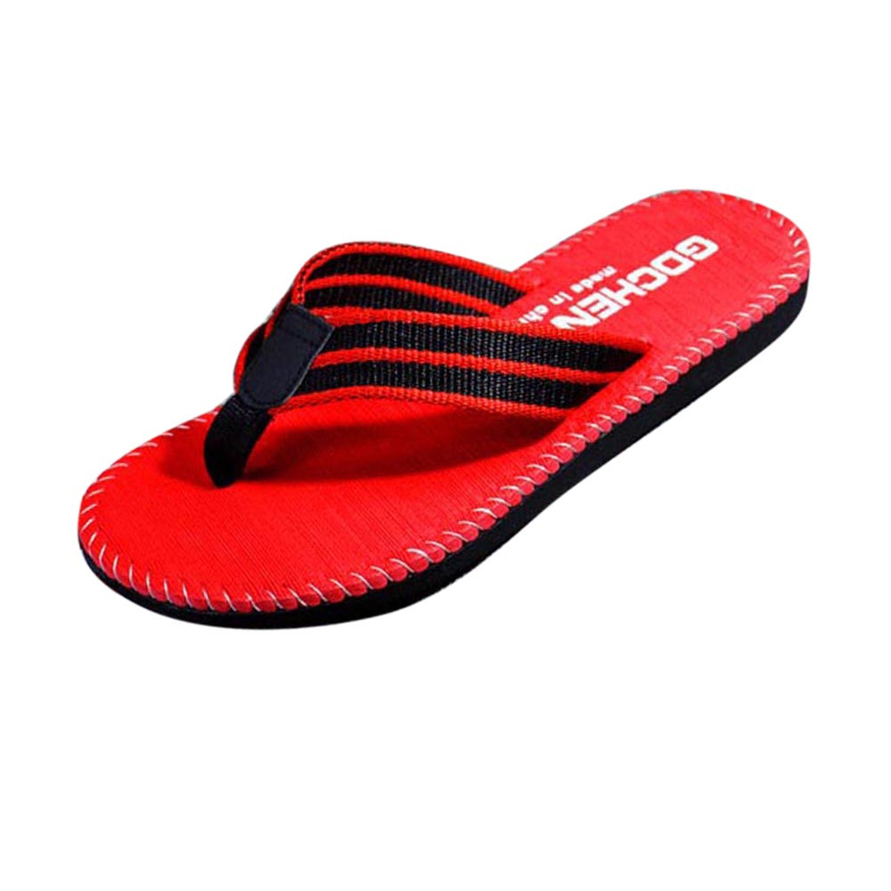 JAYCOSIN Sandals Male Slipper Shoes Flip-Flops Comfortable Casual Summer Women Stripe