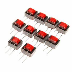 Audio-Transformers Isolation-Double-Wire 10pcs Winding EI14 Red 600:600-Ohm 1:1 Nickel-Alloy