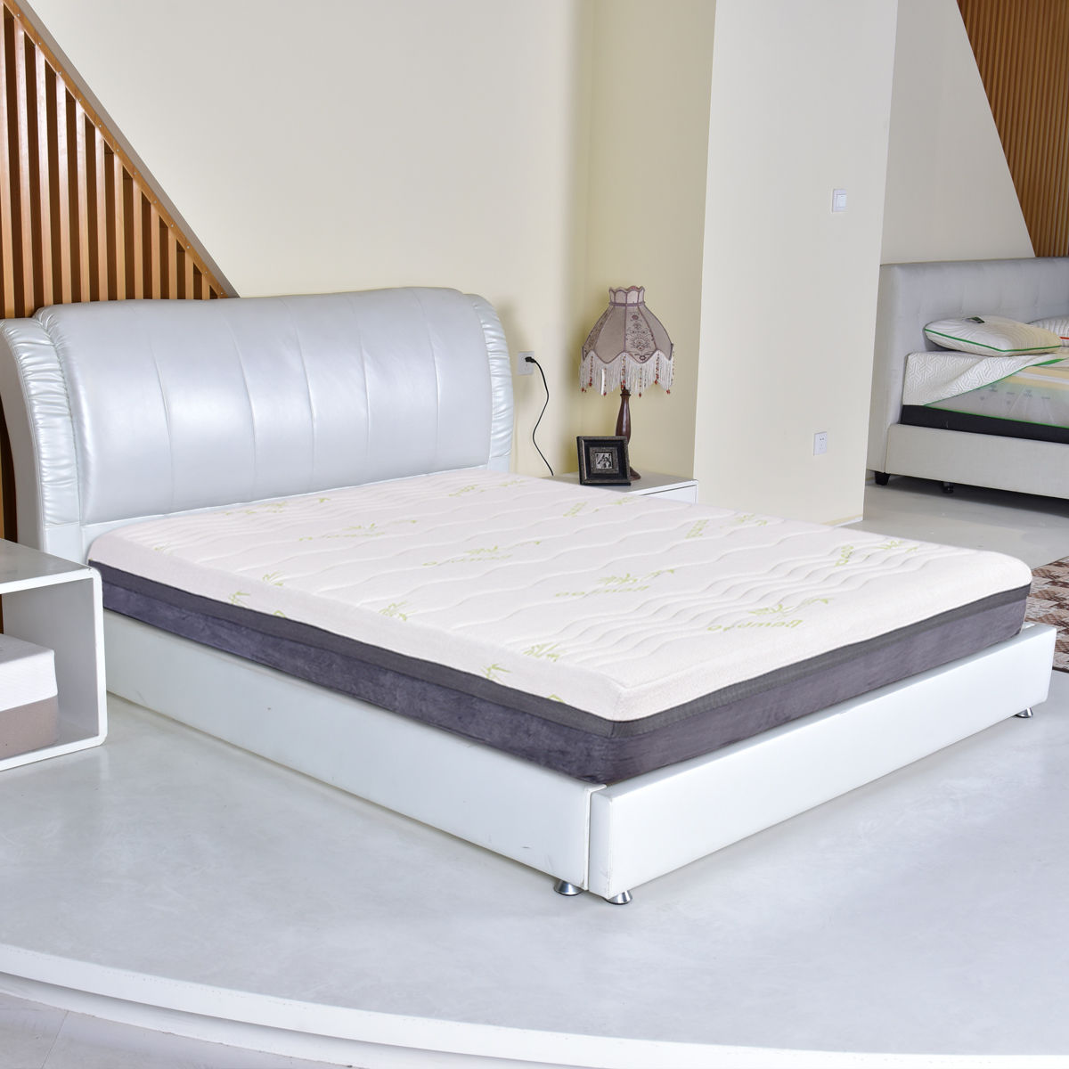 hot sale online b95e8 40ce0 US $219.99 |Giantex Queen Size Memory Foam Zipped Washable Foam Mattress  Healthy Bamboo Cover Mattress Pad Bed Topper HT0968Q-in Mattresses from ...