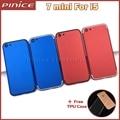 Vermelho azul habitação capa para iphone 5 como i7 substituição da bateria voltar quadro habitação tampa traseira para o iphone 7 mini