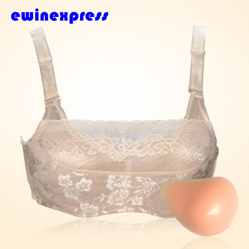 ФОТО Pair silicone breast professional women stick breast cancer surgery fake breasts chest pad
