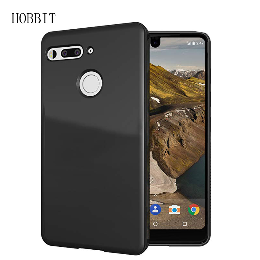 Matte Black Red Case Soft TPU Silicone Back Cover Case For Essential Phone PH1 PH-1 Shockproof Back Colored Cover Cases(China)
