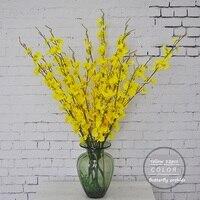 Avrupa Kırsal Tarzı 5 Buket/lot Moda Orkide Yapay Çiçekler Ipek Çiçek Buketi Phalaenopsis Düğün Ev Dekorasyon