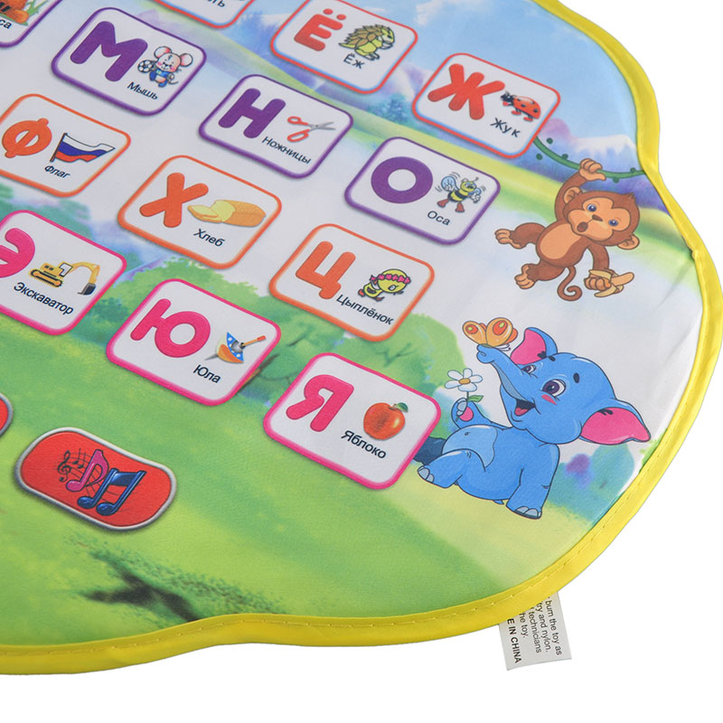 Musical Kids Children Play Mats Playmat With Russian Language Alphabet Books Electronic Newborn Learning Educational Baby Toys цена