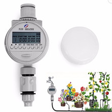 Solar Power English Version LCD Digital Electronic Intelligence Water Timer Garden Irrigation Controller Water Programs System
