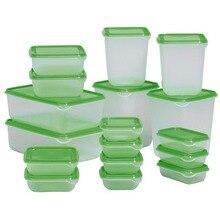 Новые Запечатанные зернистое холодильник пластиковая коробка для хранения пищи сохранение поле контейнер кухонные принадлежности 17 шт./компл.