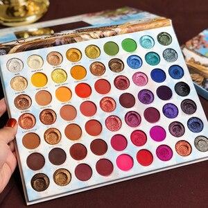 Image 3 - Make up Lidschatten Palette 63 Farbe Sommer Sammlung Matte Schimmer Glitter Pigment Lidschatten Pallete Kosmetische