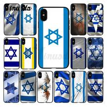 Yinuoda israel flag Country banners Israeli Soft silicone black Phone Case for iPhone X XS MAX 6 6s 7 7plus 8 8Plus 5 5S SE XR(China)