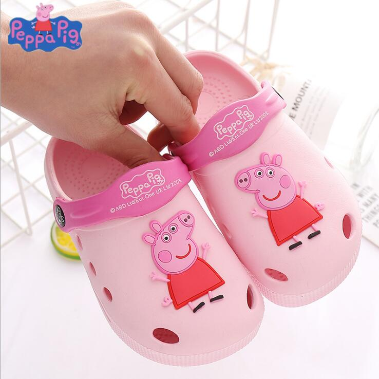 2019 New Arrival Genuine Peppa Pig Peppa With Teddy Bear George With Dinosaur KIDS SUMMER SLIPPER Children Toy Gift Hot Sale
