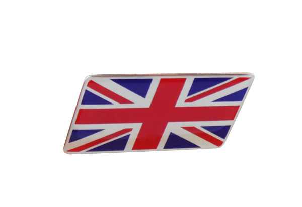 Auto Rhombic ENGLAND Britain UK Flag Front Grille Grill Emblem Badge Sticker auto front grille grill badge emblem fit for wrc red rally impreza foreater sti wrx