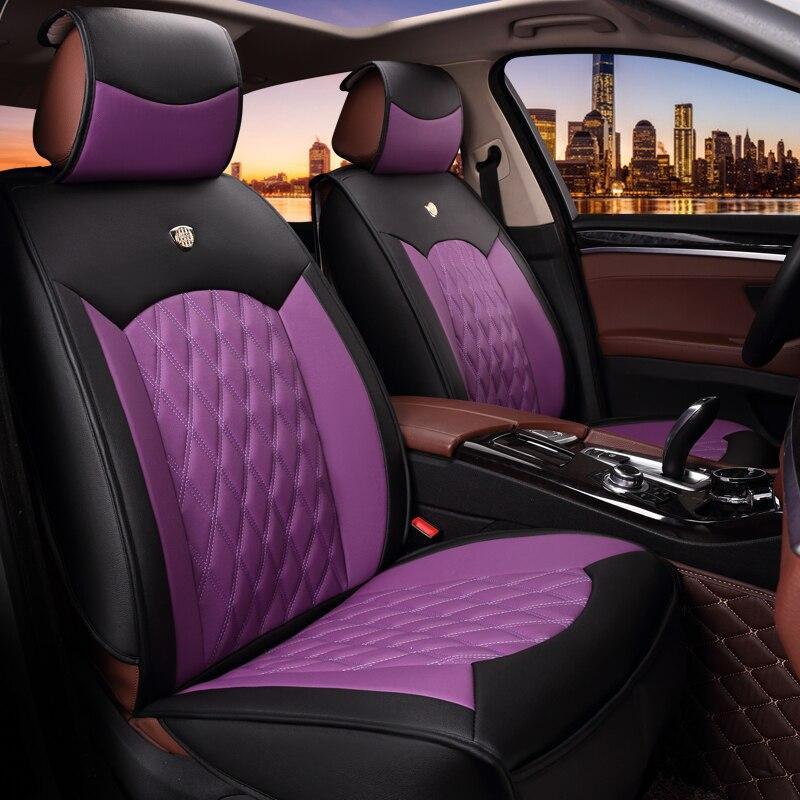 5Д полный окружили микрофибры кожа автокресло чехлы сиденья универсальный Fit 2 передняя крышка стенда стайлинга автомобилей аксессуары 1631
