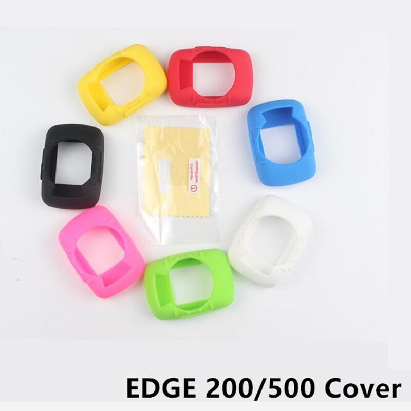 Outdoor Cycling Edge 200 500 computer Silicone Rubber Protect Case + LCD Screen Film Protector For Garmin Edge 200/500