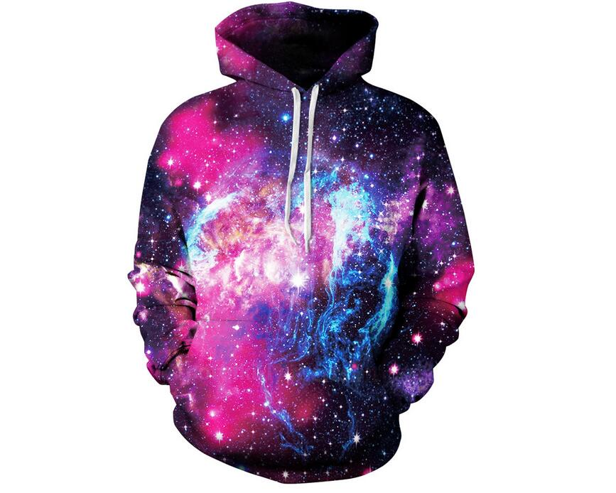 S-XXXL New Style Men/Women 3d Sweatshirts With Hat Print Space Galaxy Hooded Hoodies Autumn Winter Thin Hoody Tops pullovers