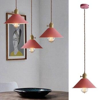 Modern Pendant Light For Kitchen Island Pink Metal Lighting Fixtures Bedroom Lights Office Ceiling Lamp Bar Pendant Lamps