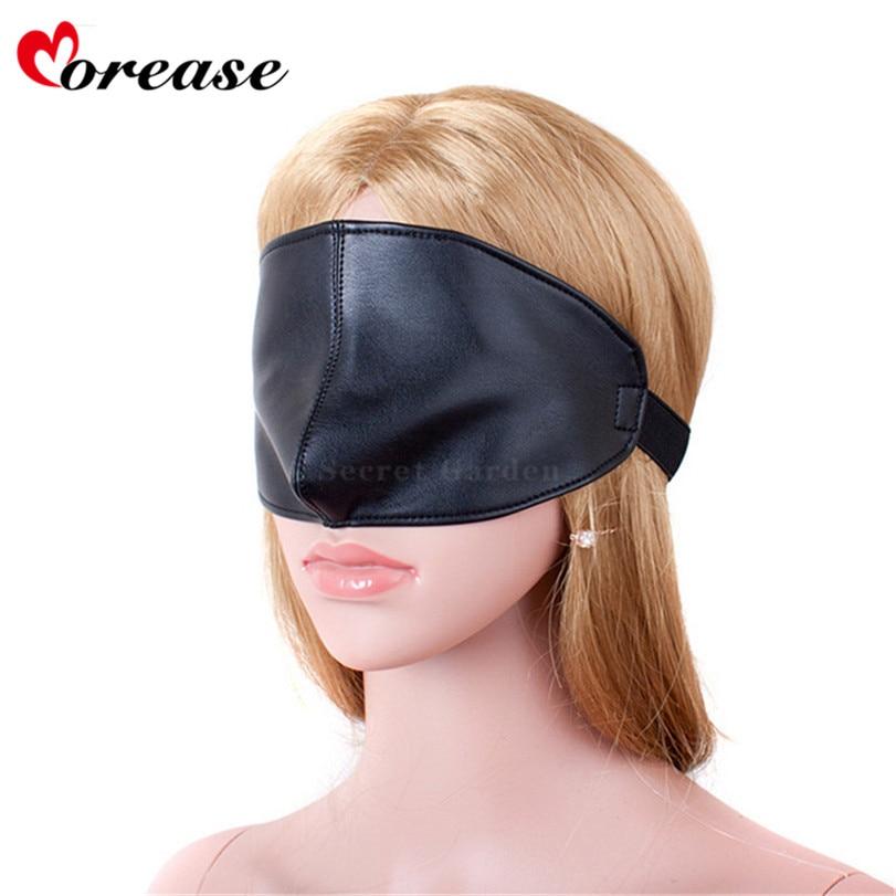 Buy Morease Blindfold Sexy Leather Eye Mask Bdsm Restraints Fetish Slave Erotic Cosplay Bondage Adult Game Sex Toys Product
