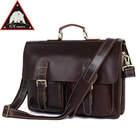 Anaph Colombian Leather flap через две пряжки Для мужчин сумка, 15 ноутбук сумка Мужские Портфели шоколадно 30 летняя гарантия