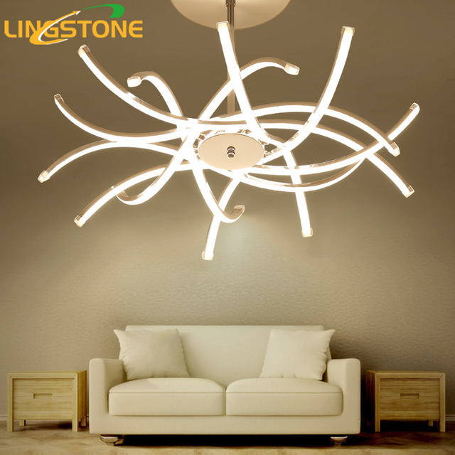 led chandelier lights. Led Chandelier Lighting Lustre Hanglamp Fixture Chrome Ceiling Plate Lamp Living Room Bedroom Dining Lights