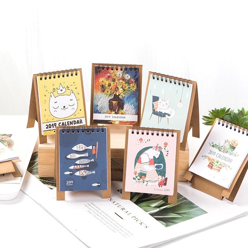 2019 Schreibtisch Kalender Nette Einhorn Flamingo 2019 Planer Schreibtisch Kalender Liefert Büro Dekoration Organizer Kalender, Planer Und Karten