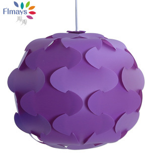 480mm Petal Purple Tree Modern Contemporary Diy Elements Iq Jigsaw Puzzle Ze Lamp Shade Ceiling Pendant Ball Light Lighting