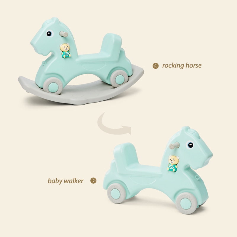 Детская блестящая лошадка, детская игрушка качалка, пластиковая игрушка для детей 1 6 лет, детская машинка качалка, детская комната, развивающие игрушки - 2