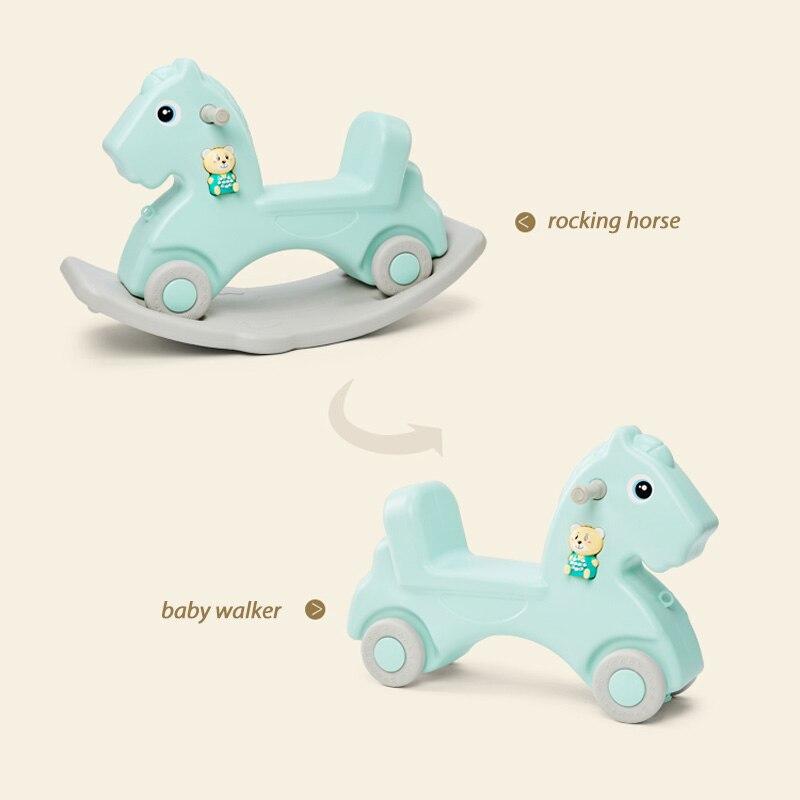 Bébé cheval brillant jouet bébé cheval à bascule en plastique L 1-6 ans équitation voiture enfants cheval à bascule jouet bébé chambre jouets éducatifs - 2