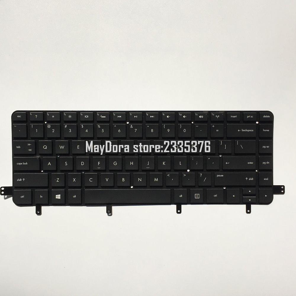 HP SPECTER XT 15-40XX TOUCHSMART ULTRABOOK üçün çərçivəsiz SPS: 700807-001 üçün yeni orijinal arxa işıqlı ABŞ klaviaturası.