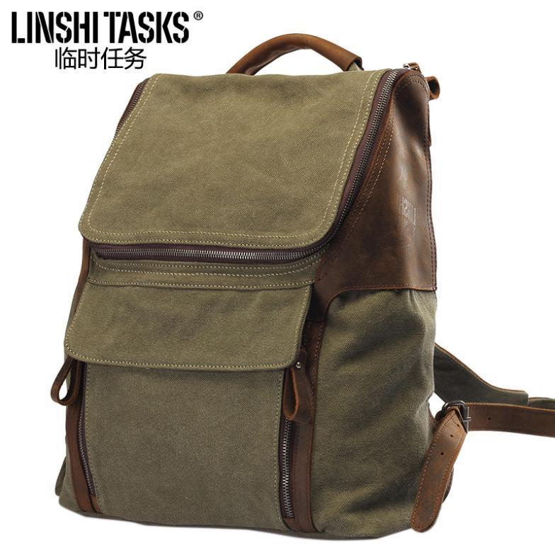 New brang Unisex vintage preppy style backpack canvas bags women backpack school bag men travel bags free shipping new vintage backpack canvas men shoulder bags leisure travel school bag unisex laptop backpacks men backpack mochilas armygreen