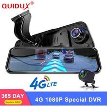 """QUIDUX 4G Specchio Speciale Macchina Fotografica Dell'automobile DVR 10 """"Full Touch Android Specchio Speciale GPS 1080 P ADAS Dual wiFi obiettivo Cancelliere Dash Cam"""