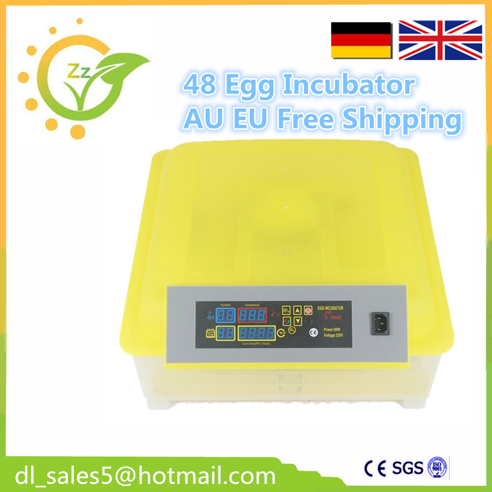 Fully Automatic Egg Incubator For Hatching 48 Chicken Duck Poultry Eggs small chicken poultry hatchery machines 48 automatic egg incubator 220v hatching for sale
