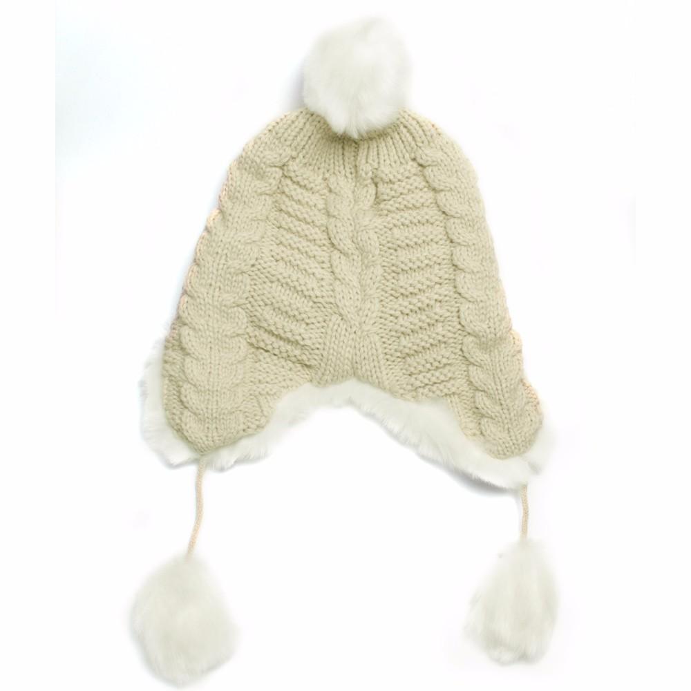 Woman Beanie Knitting Hat 2016 Happy Christmas Hats Bonnet Ladies Pompom Fur Snow Warm Skullies New Women\'s Winter Accessories (3)