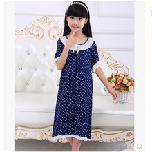 Nightgowns for childrens summer Long Nightdress Cotton pajamas Robe kids 's lounge Nightwear