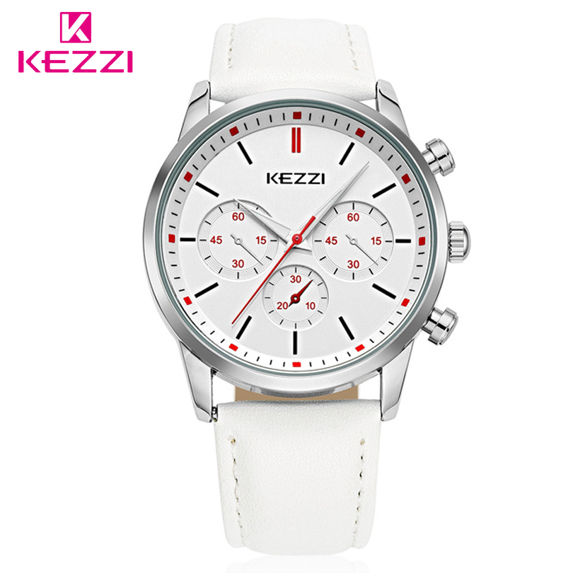 KEZZI Leather Strap Watches Men Luxury Brand  Women Watch For Lovers Fashion Romantic Quartz Dress Wristwatch Couple Gift Clocks romantic girls lovely clay rabbit watches original quartz leather strap wristwatch factory price korean mini brand clock nw840