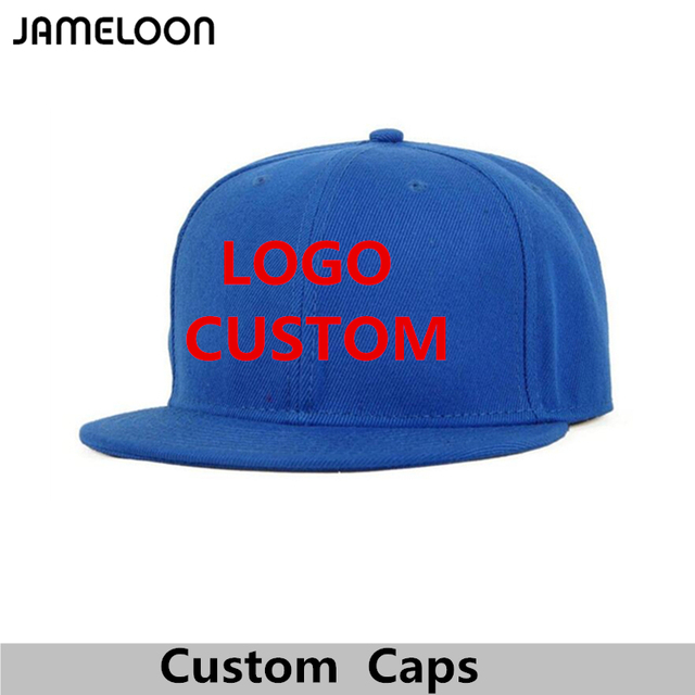 Chapéu do Snapback do Logotipo Livre personalizado Texto Foto Bordados  Homens Mulheres Adultas Crianças Hiphop Personalizado 22220fce6e9