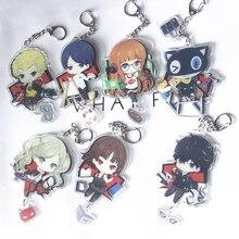 Chaveiro de acrílico, chaveiro para anime p5 akira kurpu anne takamaki