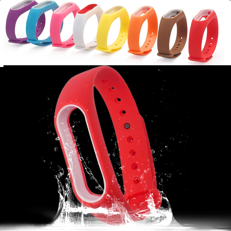 Replacement Silicone Wrist Strap Mi Band 2 Strap Xiaomi Smart Watch Protector Miband 2 Bracelet Strap Correa Xiaomi Accessories image