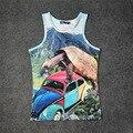 Enorme Tartaruga Após Besouro Gráficos 3D Tanque Impressão Encabeça Crianças Homens Mulheres Undershirt adolescente Algodão Tee Solto Unisex Vestuário