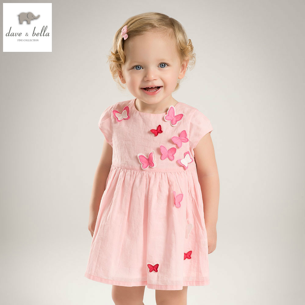 DB5067 dave bella summer baby girl princess dress butterfly appliques dress baby wedding dress kids birthday cute clothes dress db4953 dave bella summer baby girl princess dress baby big bow net yarn wedding dress kids birthday clothes dress girls costumes