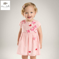 DB5067 Dave Bella Summer Baby Girl Princess Dress Butterfly Appliques Dress Baby Wedding Dress Kids Birthday