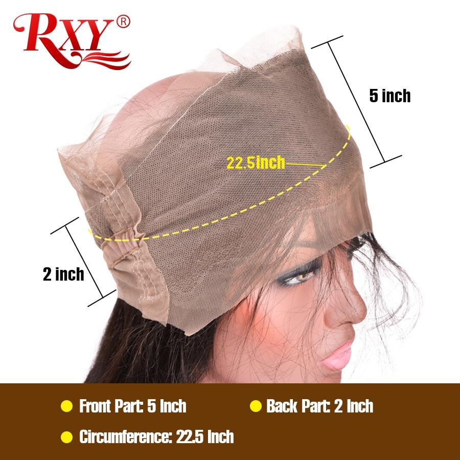 RXY Pre Plucked 360 Lace დახურვა - ადამიანის თმის (შავი) - ფოტო 6