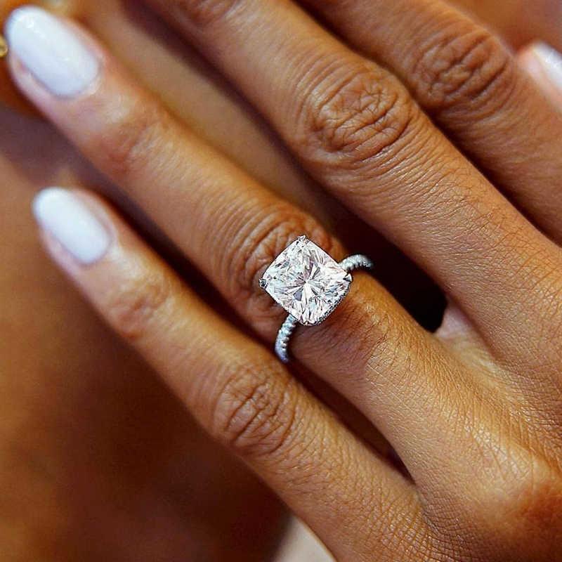 Ailend, большое круглое кольцо с кубическим цирконием, AAA, циркон, посеребренное кольцо, Женское кольцо, новинка 2019, для девушек, массивные кольца, вечерние, подарок