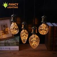 Luz conduzida da lâmpada 90-260 v dimmable lâmpada decorativa e27 edison lâmpada do vintage luzes para festa de natal do feriado decoração & gift lampada