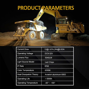 Image 4 - Luz Led antiniebla para trabajo todoterreno, 63W, 4,3 pulgadas, para Auto ATV, Lada, Tractor, camión, SUV, barco, Led 12V 24V 4x4, accesorios