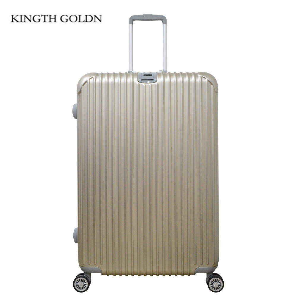 цена на KINGTH GOLDN Alloy Pull Rod Suitcase Aluminum Frame Luggage ABS+PC Luggage Box Rolling Hardside Travel Suitcase with Wheel
