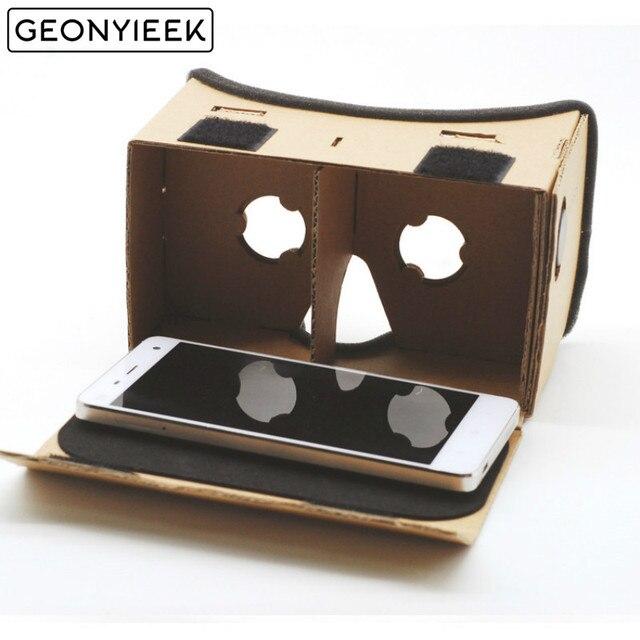 Óculos de Realidade Virtual Óculos Google Papelão 3D Óculos VR VR óculos Filmes para iPhone 5 6 7 SmartPhones Fone de Ouvido Para xiaomi
