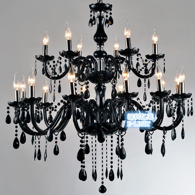 126 18 light luxury black crystal chandelier lighting lamp candle crystal chandelier lamp fashion black crystal chandelier lighting